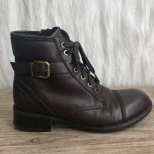 Clark's Brown & faux fur booties